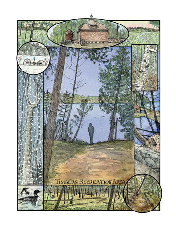 Glenn Wolff Original Artwork - Timbers Recreation Area