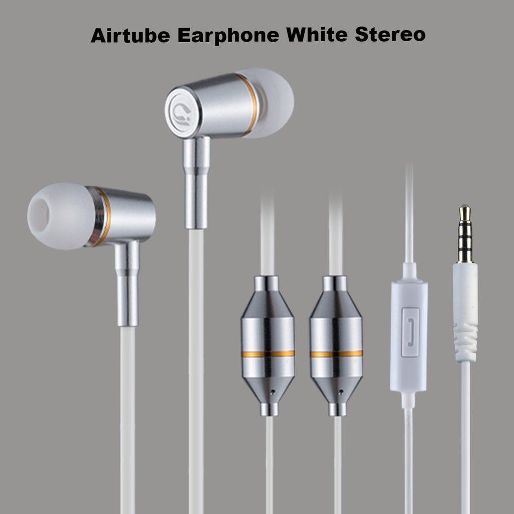 Airtube earphone white stereo