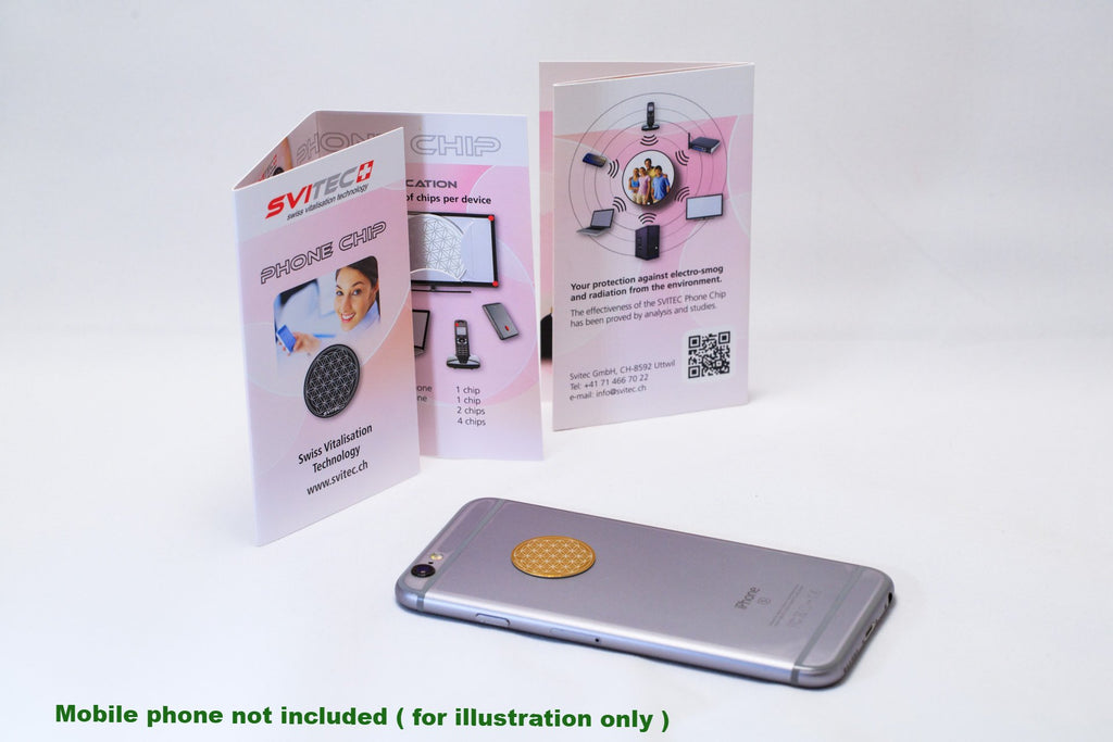 Mobile Phone Radiation Protector - SVITEC Phone Chip - Single Chip (Swiss made - less 67% adverse effects  on human energy system)