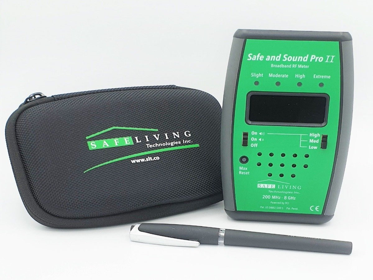 5G ready Safe and Sound Pro II RF Meter (EMF detector - Made in Canada - 2 Year Warranty)