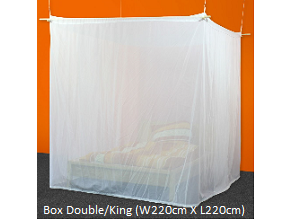 Wireless Radiation & Zika Shielding Canopy - Box Double Bed/ King Size (Less radiation by 99.99%, Swiss made)