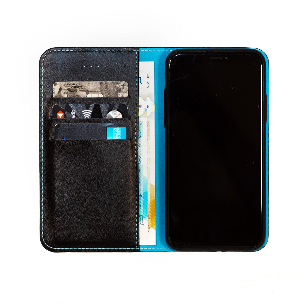 Blue Mobile Phone Radiation & Credit Card Information Theft Protection Case (87% less radiation)