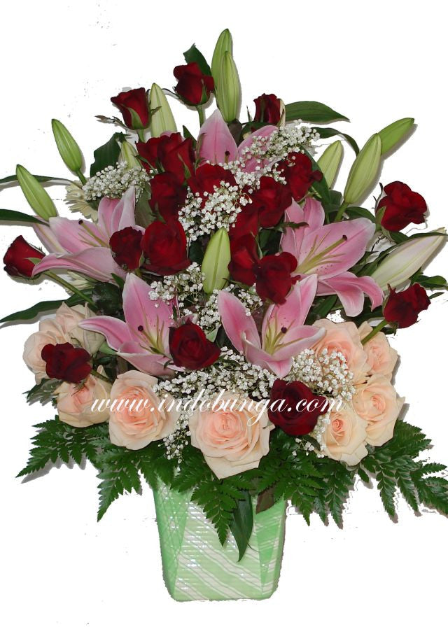 Beautiful Lilies and Roses