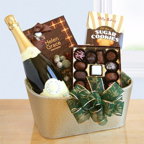 Chocolates and Sparkling Apple Cider Gift Basket
