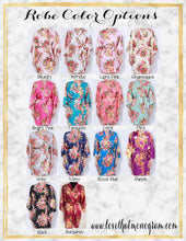 Load image into Gallery viewer, Floral Satin Robes