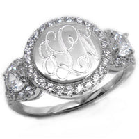 Stephanie: Sterling Silver Circle Ring