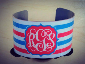 Custom Cuff Bracelet: Colorful Stripes