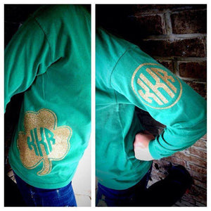 Classic Kelly Green Monogram Long Sleeve T-shirt: Lucky Charms