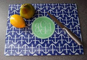 Monogram Cutting Board: Anchors