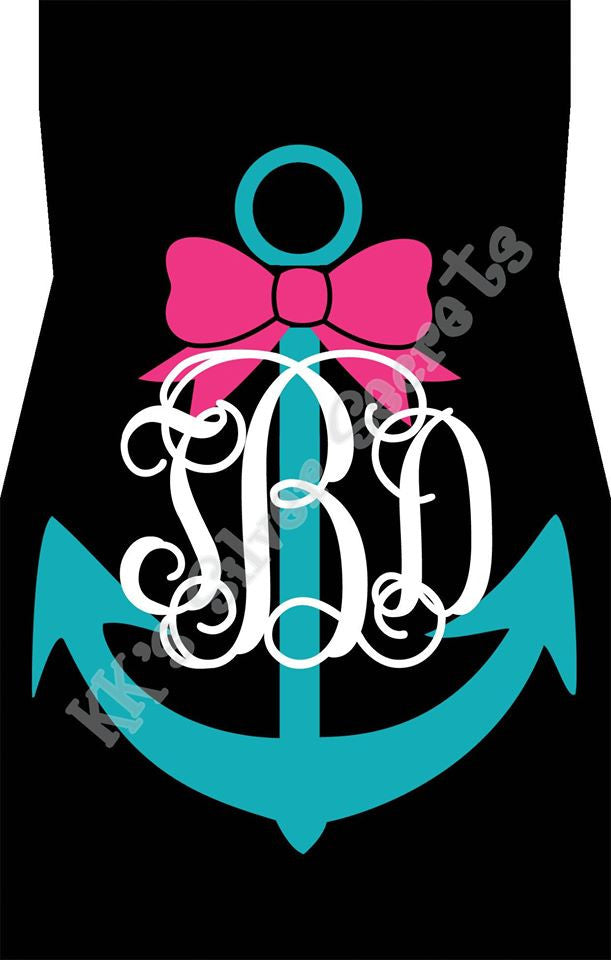 Monogram Car Mats: Black/ Anchor