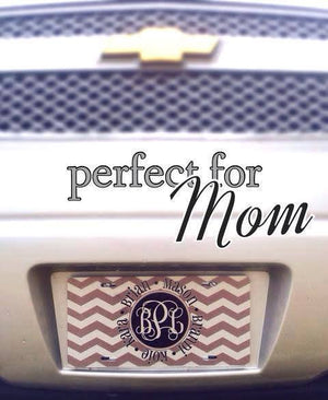 License Plate: Mothers Day/ Chevron