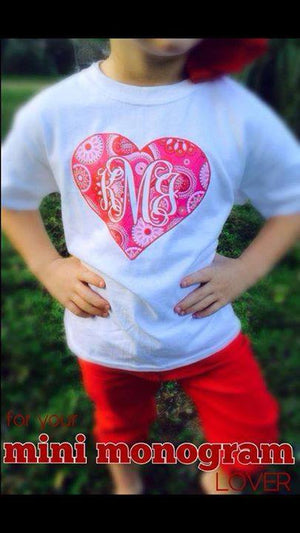 MINI-MONOGRAMS- Short Sleeve T-Shirt: Heart