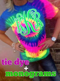 Short Sleeve Tie Dye Tshirts: Lime