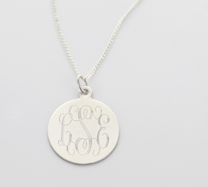 Classic Monogram Necklace: Silver