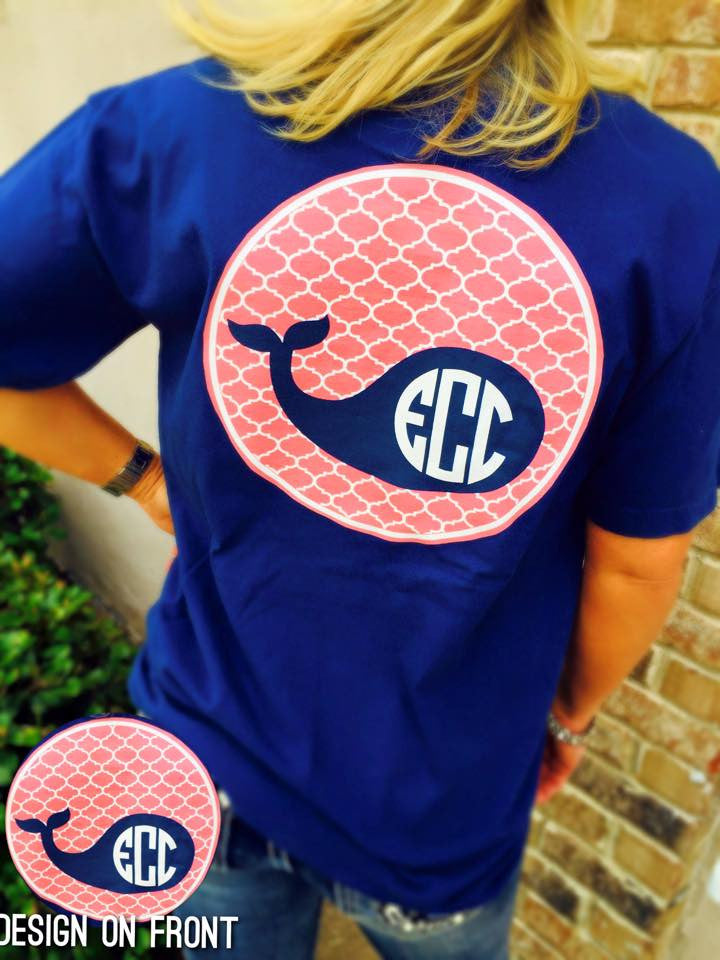 Whale Perfect Monogram T-Shirt: Royal
