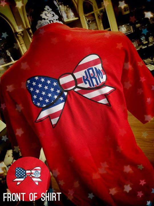 American Pride Short Sleeve T-Shirt: Red/ USA Bow