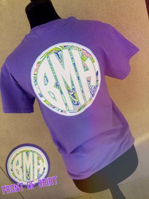 Conch Republic Monogram Short Sleeve Shirt: Lavender