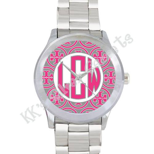 Designer Inspired Watch: Pink/ Gray