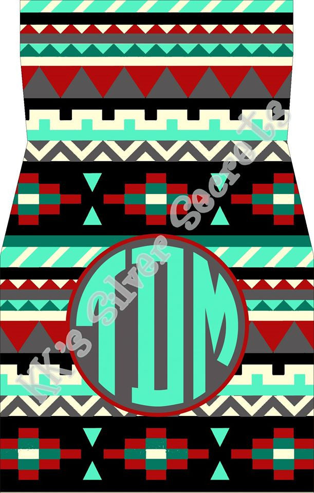 Monogram Car Mats: Aztec/ Mint