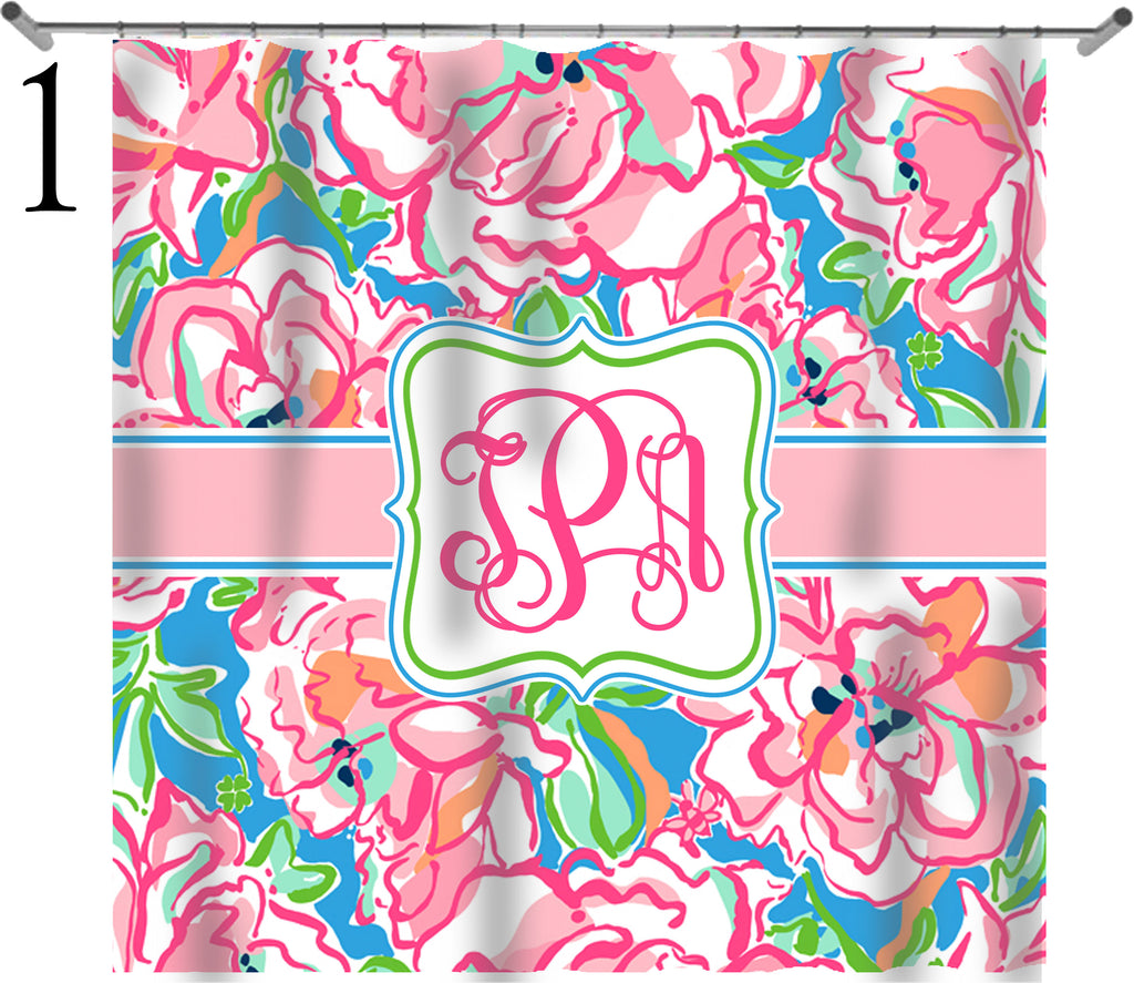 KK's Monogram Shower Curtains
