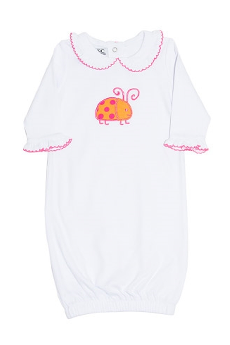 Embroidered Baby Day Gown