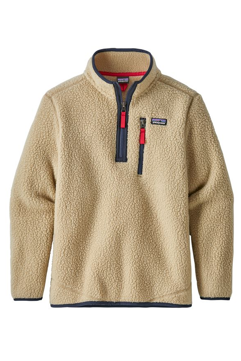 Patagonia Boys' Retro Pile Fleece 1/4-Zip