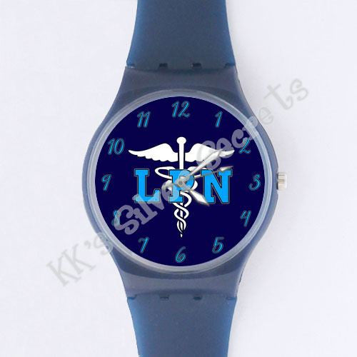Jelly Watch: Navy/ LPN with Numbers