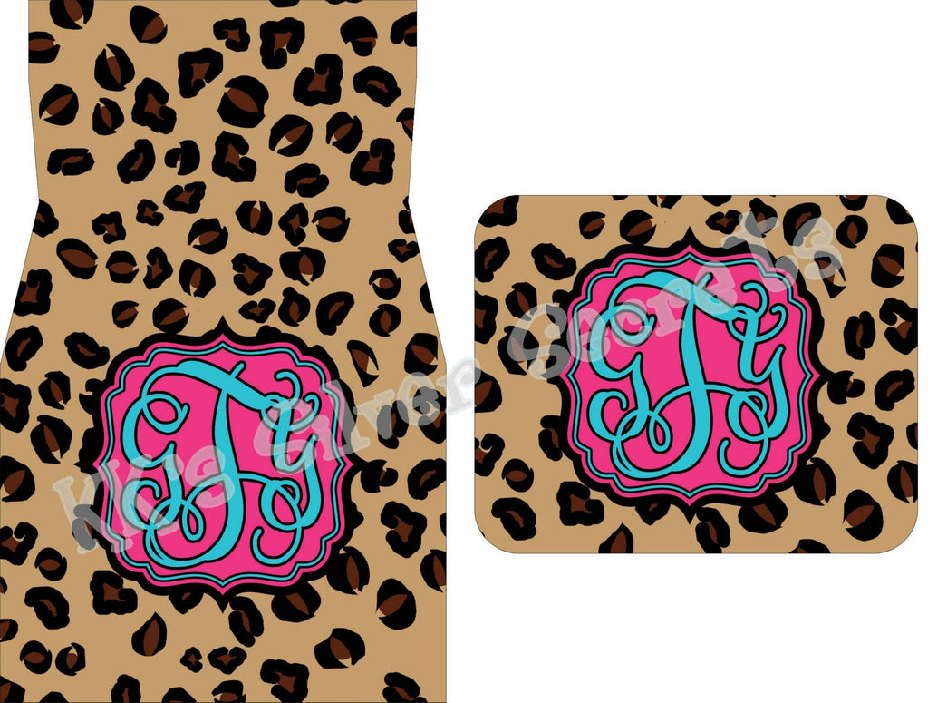 Monogram Car Mats: Cheetah