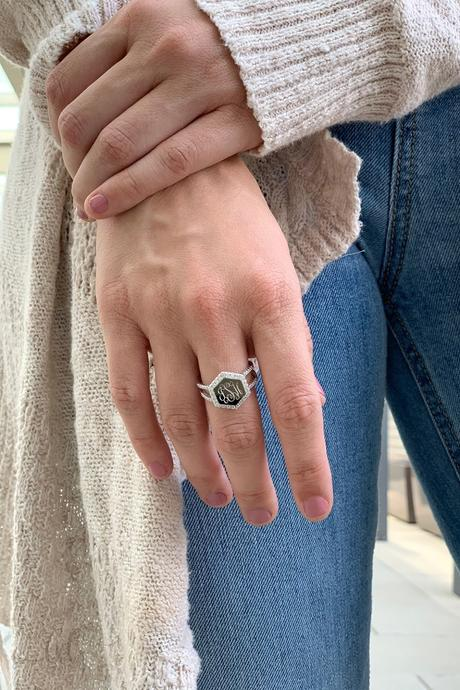 Alora: Sterling Silver Hexagon Ring