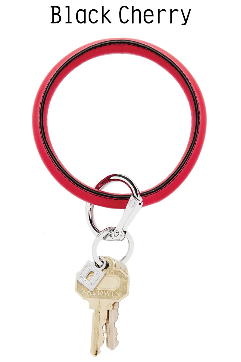 Big O Key Rings: Signature/ Smooth Leather