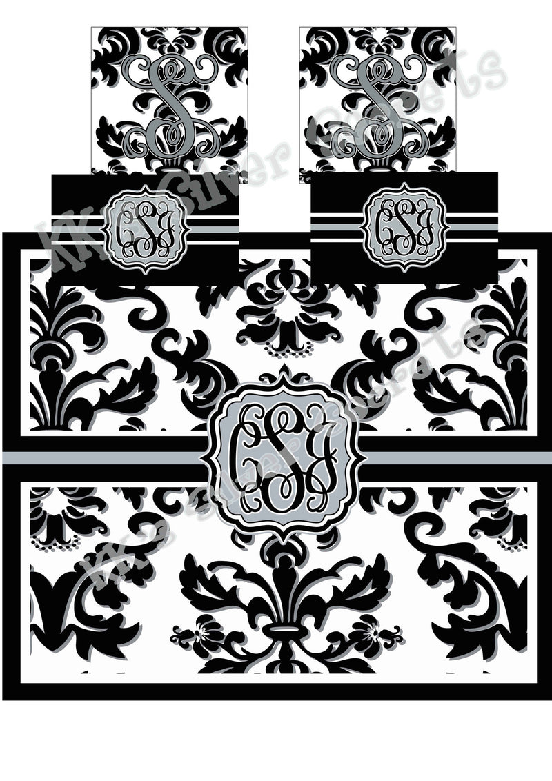 KK's Custom Bedding: Damask