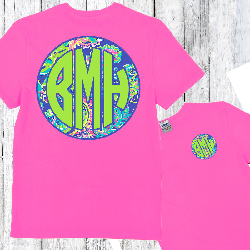 Exotic Monogram Shirt: Azalea