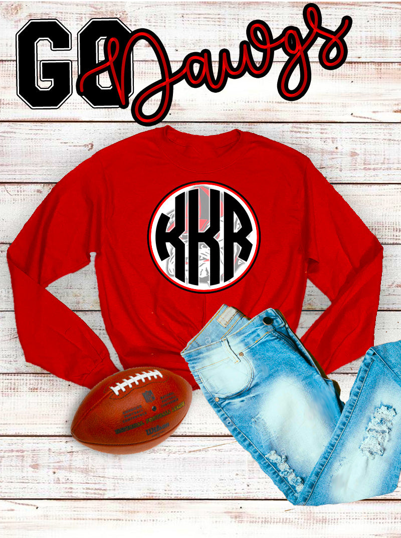Bulldog Monogram Long Sleeve Shirt