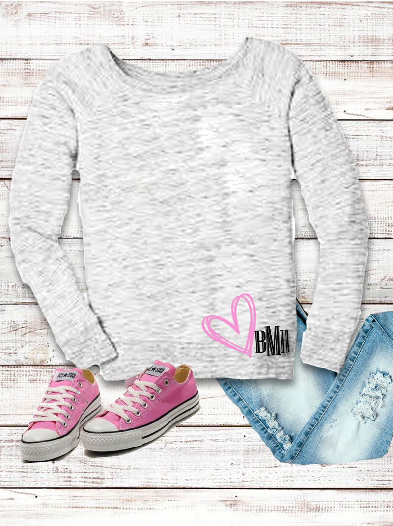 Wide Neck Sweatshirt: Heartly