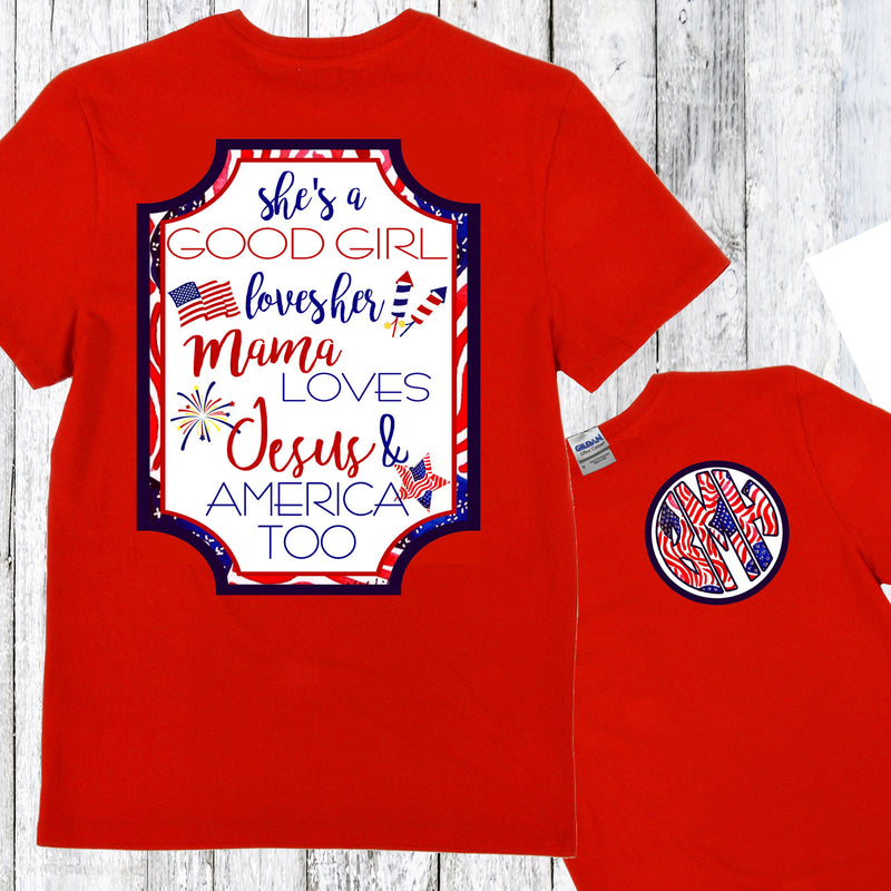 Short Sleeve RED: AMERICA TOO TSHIRT