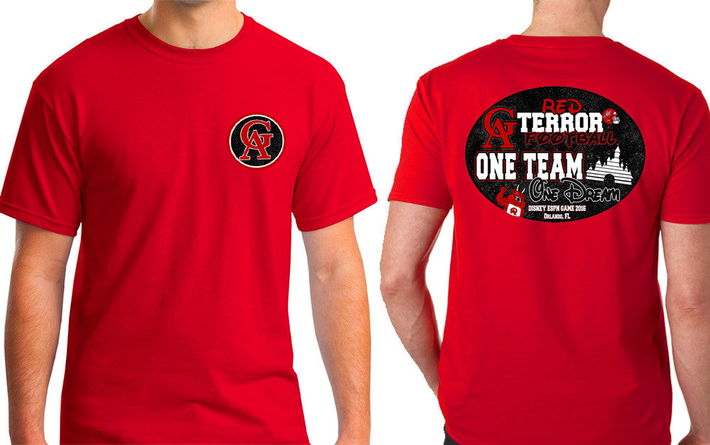 ONE TEAM, ONE DREAM: TERRORS FOOTBALL RED TSHIRT SS