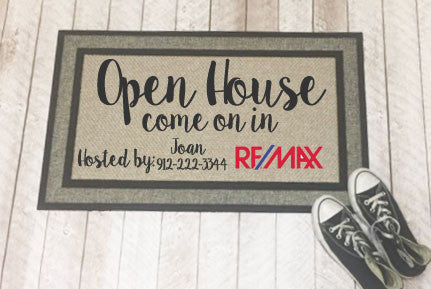 Personalized Real Estate/Open House Door Mats