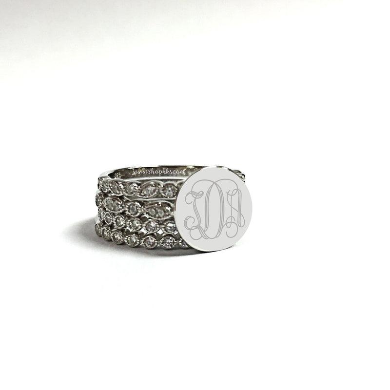 Stacked on You: Sterling Silver Stack-able Ring Set