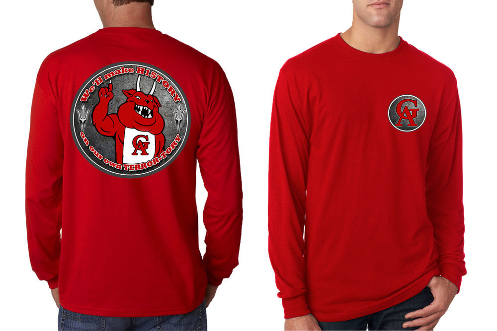 Gameday Long Sleeve T-Shirts: TERROR FOOTBALL MENS