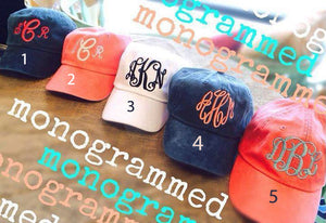 Monogram Baseball Hat: Multi