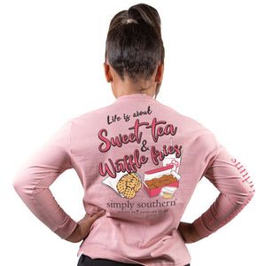 Simply Southern Long Sleeve Tshirt: Sweet/Crepe YOUTH