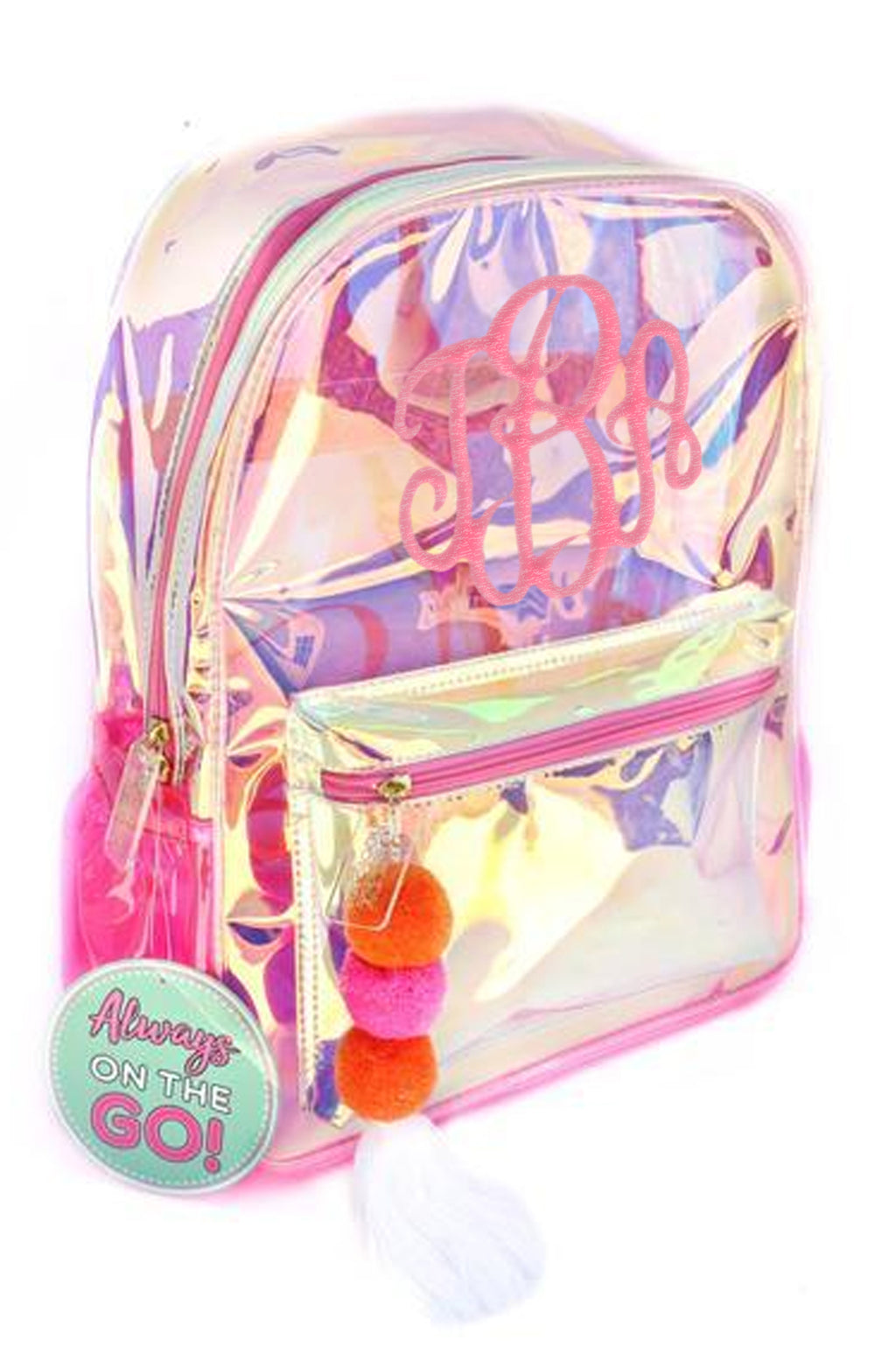 Iridescent Backpack: Light Pink Tones
