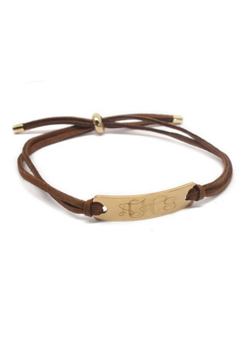 Kate: Suede Adjustable Bar Bracelet