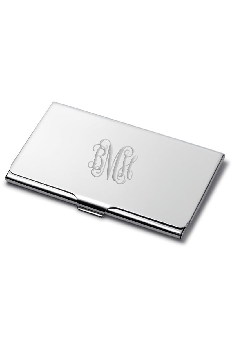 Monogram Business Card Holder