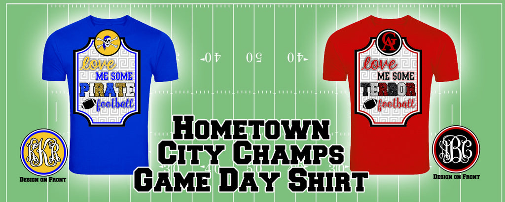 Hometown City Champs Game Day Tshirt: GA vs. BHS