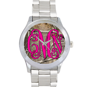 Camo Monogram Watch: Pink