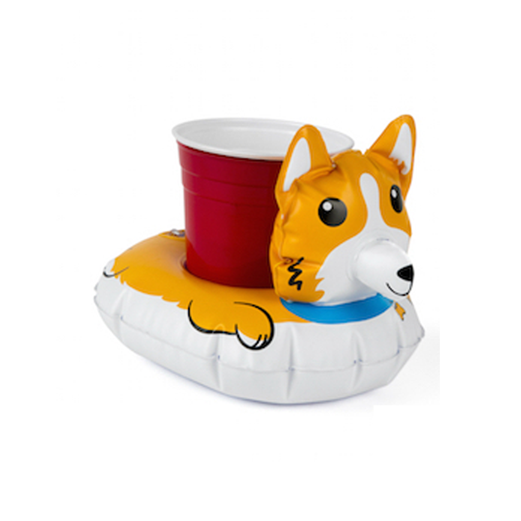 Dog Beverage Floats: Corgi/ Pug