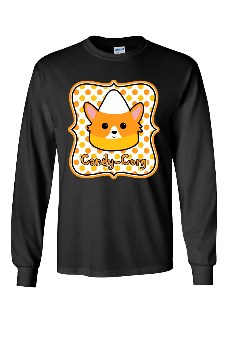 Candy-Corg Long Sleeve Shirt: Black