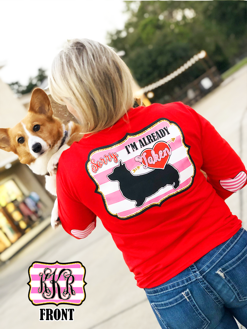 Sorry I'm Already Taken: Corgi/ Red Monogram Tee
