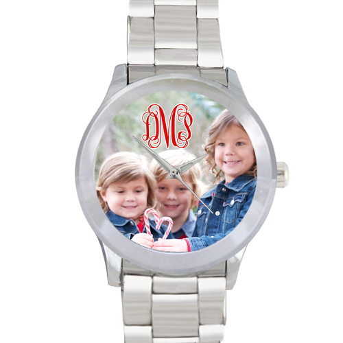Custom Monogram Photo Watch